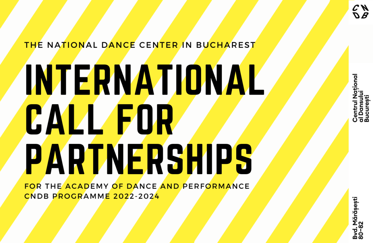CNDB calls for international partnerships for the Academy of Dance and Performance 2022-2024 edition
