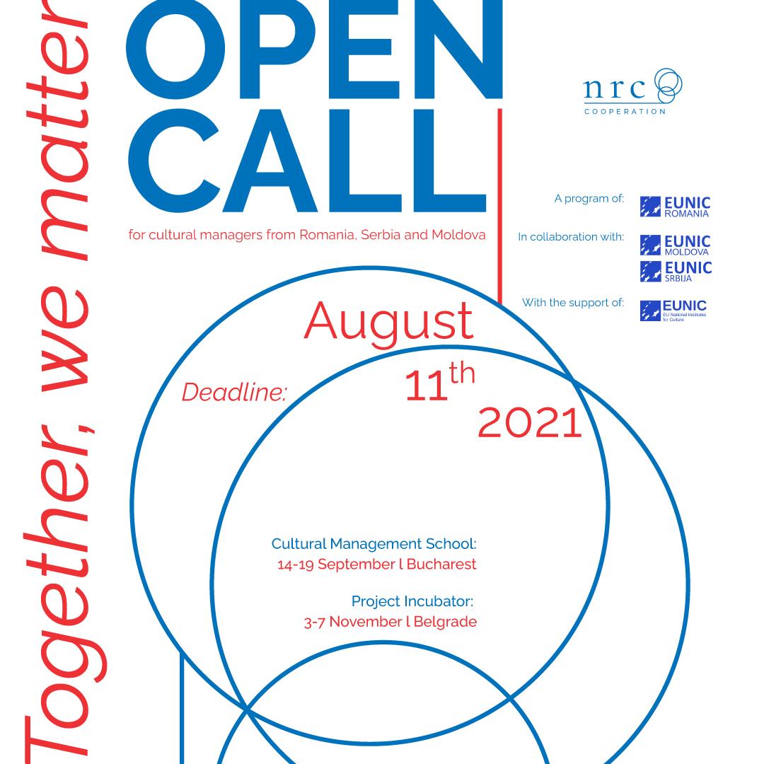 Open Call – Cultural Management – NRCC Together we matter
